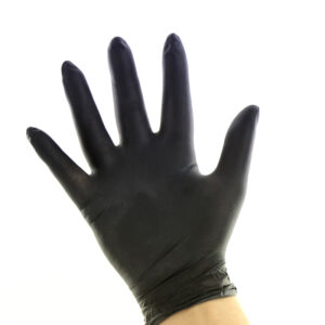 Γάντι Latex Μαύρο Medium 100 τεμ PapaBros