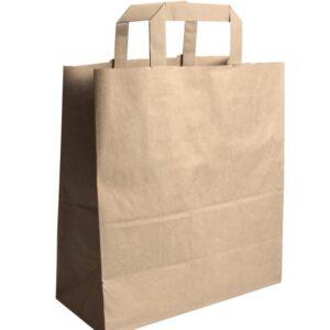 Σακούλα χάρτινη με χερούλι κράφτ 26x17x29 papabros