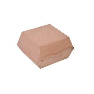 Κουτί χάρτινο κράφτ burger 11x11x8,5 papabros