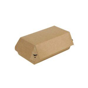 Κουτί χάρτινο κράφτ burger portion 20x10x8.5 papabros