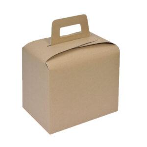Κουτί χάρτινο κράφτ lunch box 17,5x12,5x16,5 papabros
